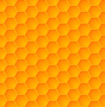 Vector abstracto miel hexágono de patrones sin fisuras