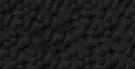 Vector eps abstract black hexagon pattern design