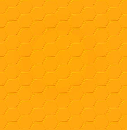 Vector honey hexagon seamless pattern design Ilustração