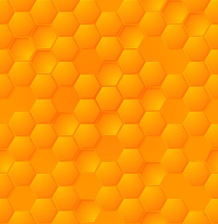 Vector abstract honey hexagon seamless pattern