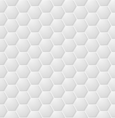 Vector abstract white hexagon seamless pattern