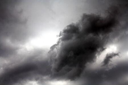 dark clouds in the sky before the rain