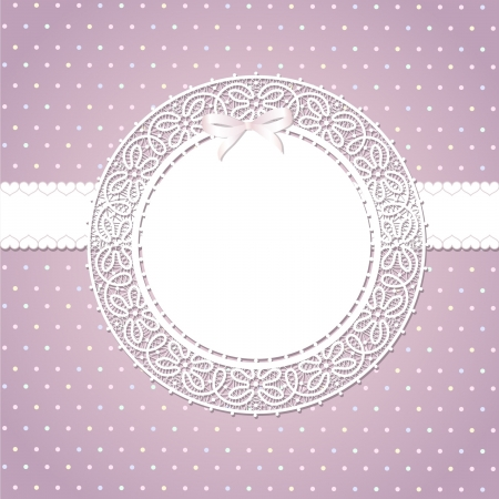 lace frame: Template frame design for greeting card