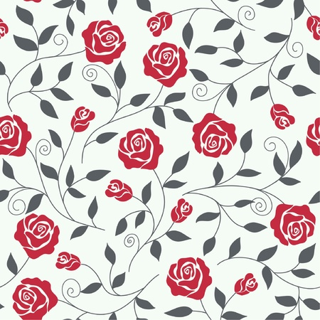 rose pattern: Seamless abstract  background  with roses