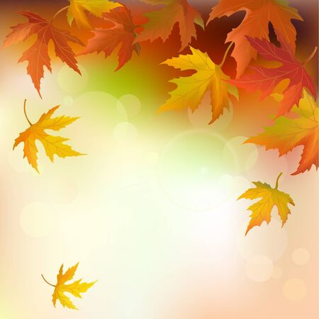 autumn background: abstract autumn background Illustration