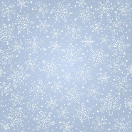 seamless blue background  with snowflakes Stock Vector - 16655745