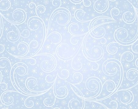 blizzard: Winter blue seamless background with snowflakes
