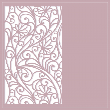 garden design: Template  frame  design for greeting card