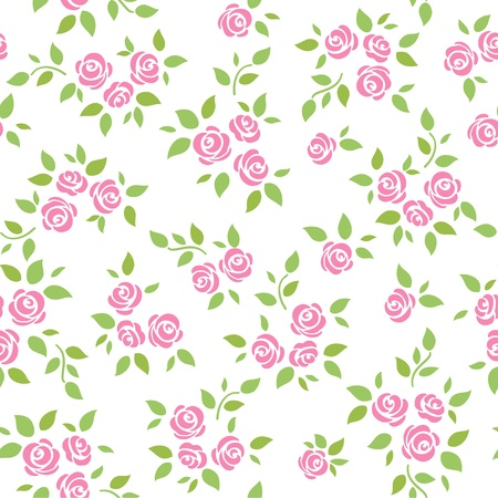 floral ornaments: Seamless abstract  background  with roses