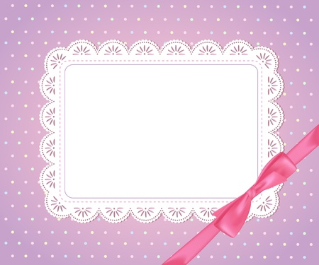 chequered ribbon: Template  frame design for card,