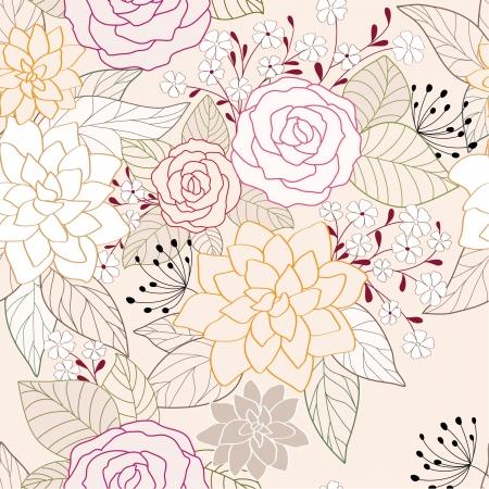 zökkenőmentes absztrakt virág háttér