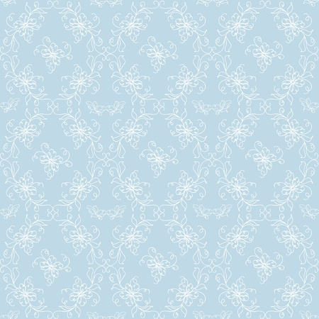 seamless blue abstract floral background Vector