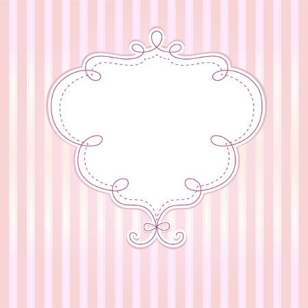 retro fashion: Template frame design for  greeting card