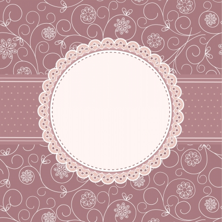 lace frame: greeting  frame Illustration