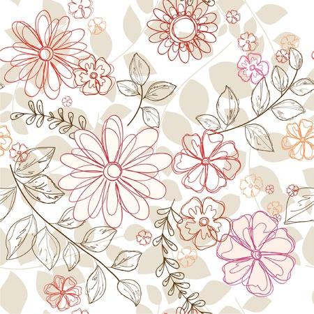 seamless  floral background Ilustração
