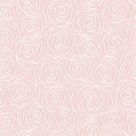 seamless abstract   background with roses Illustration