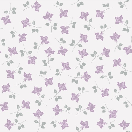 Seamless abstract grey  background  with roses Vector