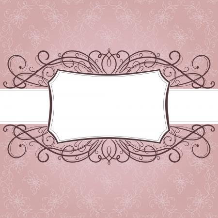 Vector üdvözlő frame