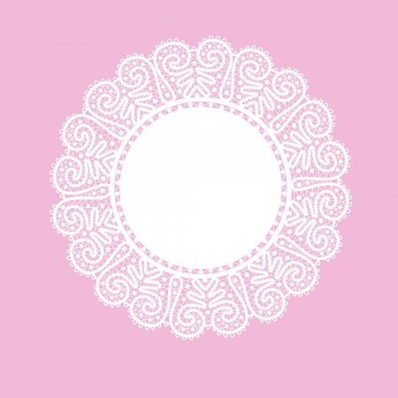 crochet: Template frame  design for card  Vintage Lace Doily