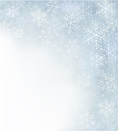 abstract Christmas background with snowflakes Stock Vector - 16909398