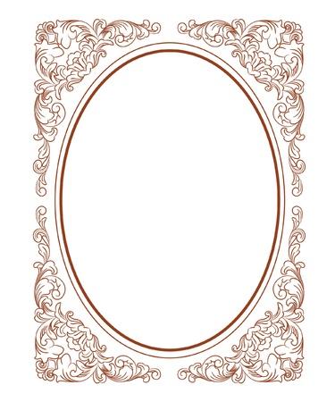 Vintage Floral Frame Stock Vector - 16909363