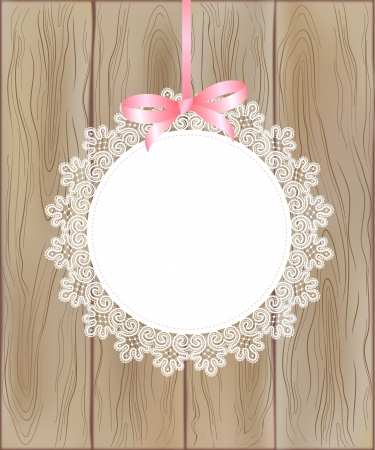 lace frame: lase frame on wood background