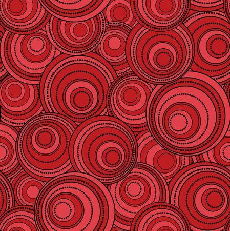 elipse: Fondo retro negro y rojo círculo
