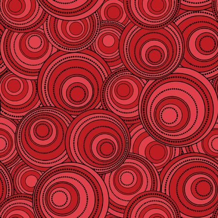 ellipses: Retro black and red seamless circle background