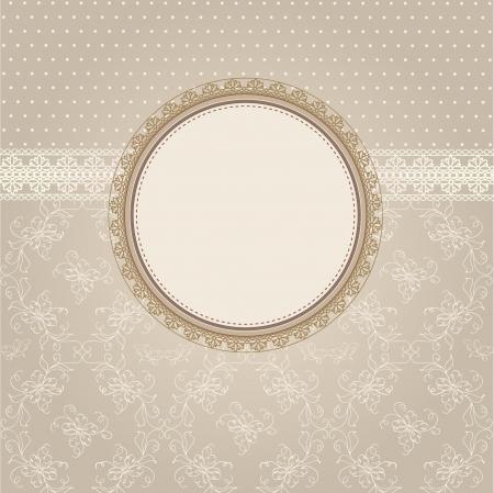 greeting frame Ilustração