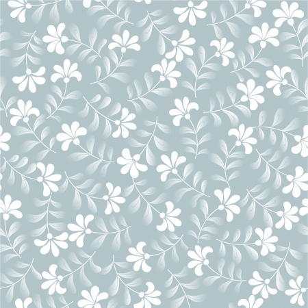 seamless abstrac grey floral  background Illustration