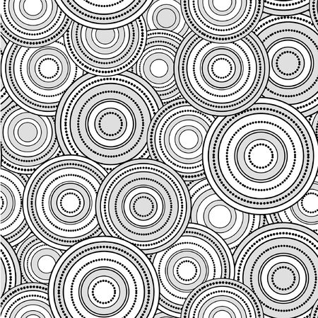 Retro black and white seamless circle background Stock Vector - 17209171