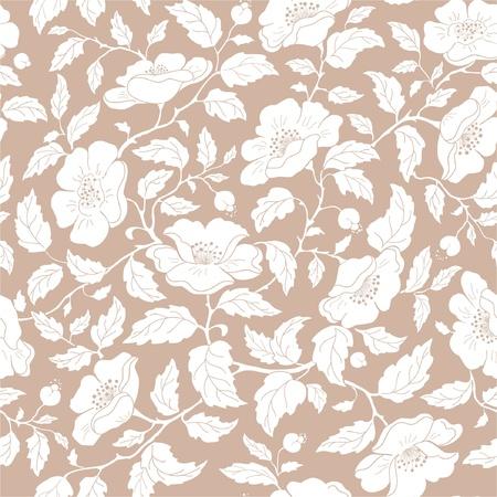 wildrose:  seamless floral background