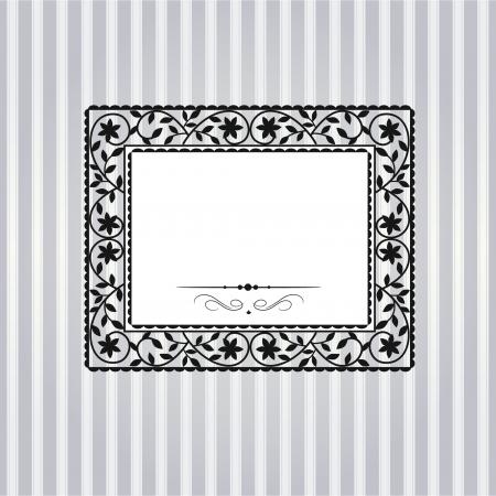 Sablon keret szerkezetének üdvözlőlap Illusztráció