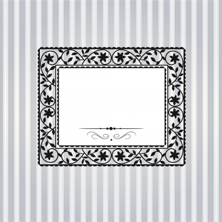 Template frame design for greeting card Imagens - 17209118