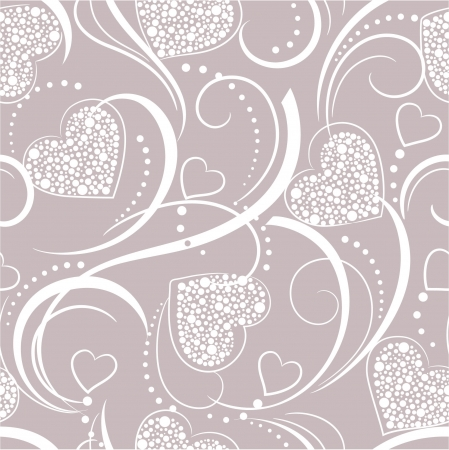 seamless grey background with hearts Stock Vector - 17451287