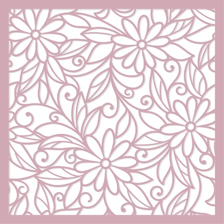 seamless pink abstract  floral   background Imagens - 17451295