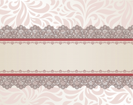 Template  frame design for card Illustration