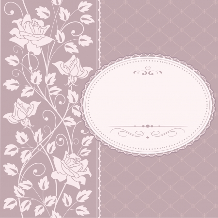 fashion label: greeting  frame Illustration