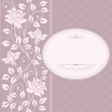 greeting  frame Illustration