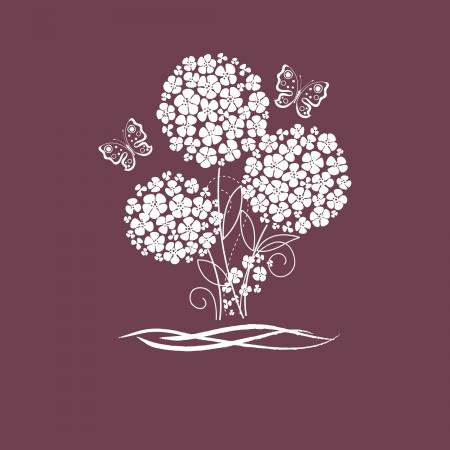 aranyos kártya virágok és pillangó