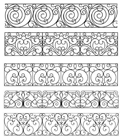 mirror image: vintage border set for design