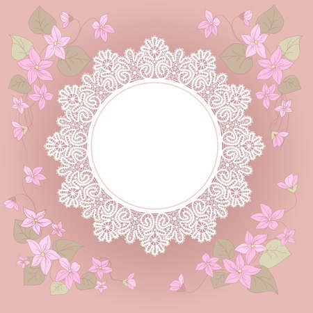 Template  frame design  for card Stock Vector - 17795017
