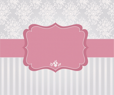 invitation card: Template frame design for card