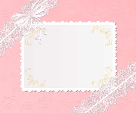 chequered ribbon: Template  frame design for card Illustration