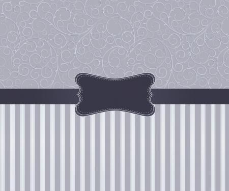 Sjabloon frame ontwerp voor kaart Vector Illustratie