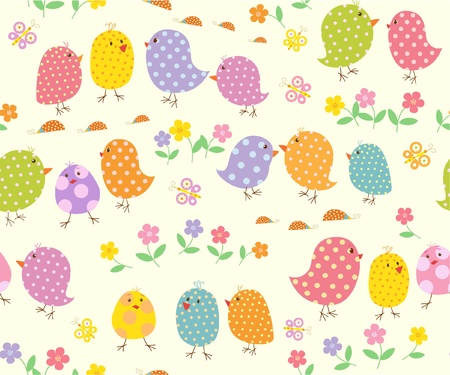 birdies: background with nestling