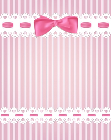pink ribbons: Template frame design for greeting card