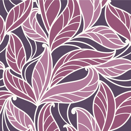 seamless  abstract  floral   background with leaves Imagens - 18593704