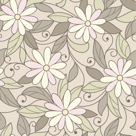 seamless  green floral background Vector
