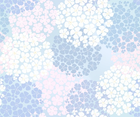 Seamless abstract floral background Vector